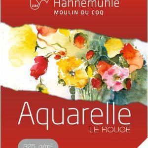 Papier Aquarelle Le Rouge Grain Fin Hahnemühle
