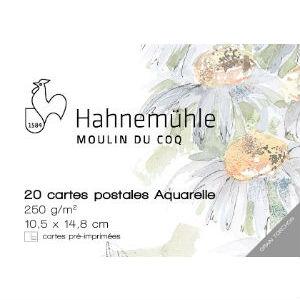 Cartes postales Aquarelle Moulin du Coq
