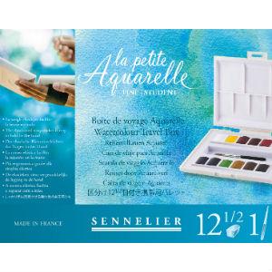 boite 12 demi-godets aquarelle Sennelier